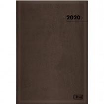 Imagem - Agenda Executiva Costurada Diária de Mesa Marrom 2020