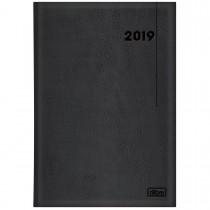 Imagem - Agenda Executiva Costurada Diária de Mesa Preta 2019