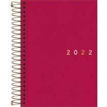 Imagem - Agenda Executiva Espiral Diária 12,9 x 18,7 cm Napoli Feminina 2022