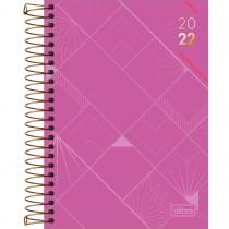Imagem - Agenda Executiva Espiral Diária 13 x 18,8 cm Spot Feminina 2022 - Roxa - Sortido