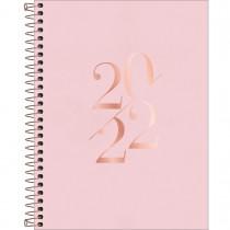 Imagem - Agenda Executiva Espiral Diária 17,7 x 24 cm Vanilla 2022 - Rosa - Sortido