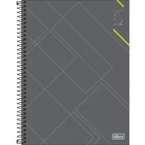 Imagem - Agenda Executiva Espiral Diária 20 x 27,5 cm Spot 2022 - Cinza com Verde