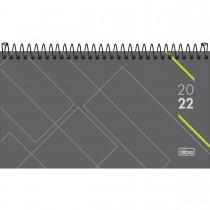 Imagem - Agenda Executiva Espiral Semanal 16,7 x 8,9 cm Spot 2022 - Cinza com Verde