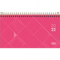 Imagem - Agenda Executiva Espiral Semanal 16,7 x 8,9 cm Spot Feminina 2022 - Rosa - Sortido