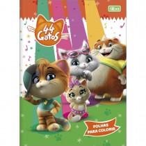 Imagem - Álbum para Colorir 44 Gatos 8 Folhas
