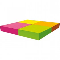 Bloco Adesivo Tili Notes 38x50mm 400 folhas 4 Cores Neon