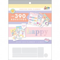 Imagem - Bloco de Adesivos Decorados para Planners Happy 12 Folhas