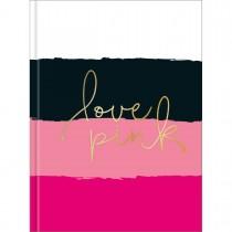 Imagem - Caderneta Costurada Capa Dura Love Pink 80 Folhas (Pacote com 5 unidades) - Sortido