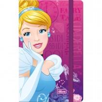 Imagem - Caderneta Costurada Capa Dura Princesas 80 Folhas