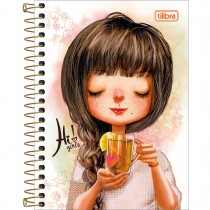 Imagem - Caderneta Espiral Capa Dura 1/8 Hi! Girls 80 Folhas - Sortido (Pacote com 4 unidades)