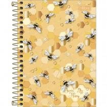 Imagem - Caderneta Espiral Capa Dura 1/8 Honey Bee 80 Folhas (Pacote com 4 unidades) - Sortido