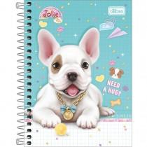 Caderneta Espiral Capa Dura 1/8 Jolie Pet 80 Folhas (Pacote com 4 unidades) - Sortido