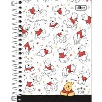 Caderneta Espiral Capa Dura 1/8 Pooh 80 Folhas (Pacote com 4 unidades) - Sortido
