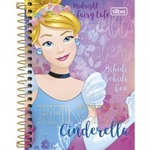 Imagem - Caderneta Espiral Capa Dura 1/8  Princesas 96 Folhas (Pacote com 4 unidades) - Sortido
