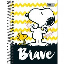 Imagem - Caderneta Espiral Capa Dura 1/8 Snoopy 80 Folhas - Sortido (Pacote com 4 unidades)