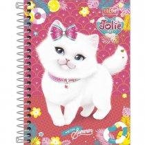 Imagem - Caderneta Espiral Capa Dura 1/8 Jolie Pet 80 Folhas - Sortido (Pacote com 4 unidades)