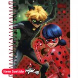 Imagem - Caderneta Espiral Capa Dura 1/8  Miraculous: Ladybug 96 Folhas - Sortido (Pacote com 4 unidades)