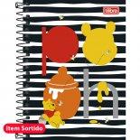 Imagem - Caderneta Espiral Capa Dura 1/8  Pooh 96 Folhas - Sortido (Pacote com 4 unidades)