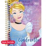 Imagem - Caderneta Espiral Capa Dura 1/8  Princesas 96 Folhas - Sortido (Pacote com 4 unidades)
