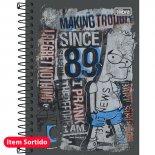 Imagem - Caderneta Espiral Capa Dura 1/8  Simpsons 96 Folhas - Sortido (Pacote com 4 unidades)