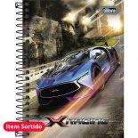 Imagem - Caderneta Espiral Capa Dura 1/8 X-Racing 96 Folhas - Sortido (Pacote com 4 unid...