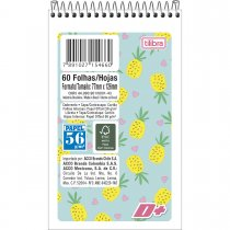 Imagem - Caderneta Espiral Capa Flexível D+ 60 Folhas - Sortido