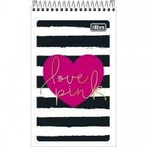 Imagem - Caderneta Espiral Capa Flexível Love Pink 60 Folhas - Sortido (Pacote com 20 unidades)