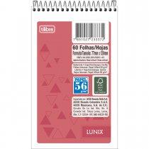 Imagem - Caderneta Espiral Capa Flexível Lunix 60 Folhas - Sortido (Pacote com 20 unidades)