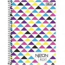 Imagem - Caderneta Espiral Capa Plástica 1/8 Neon Kori 96 Folhas