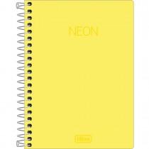 Imagem - Caderneta Espiral Capa Plástica 1/8 sem Pauta Neon Amarelo 80 Folhas