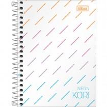 Imagem - Caderneta Espiral Capa Plástica 1/8 sem Pauta Neon Kori 80 Folhas
