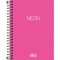 Imagem - Caderneta Espiral Capa Plástica 1/8 sem Pauta Neon Pink 80 Folhas