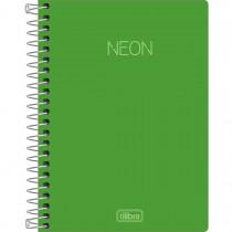 Imagem - Caderneta Espiral Capa Plástica 1/8 sem Pauta Neon Verde 80 Folhas