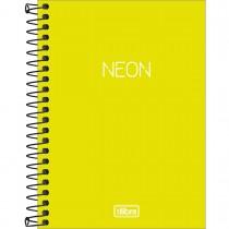 Imagem - Caderneta Espiral Capa Plástica 1/8 sem Pauta Neon Verde-Limão 80 Folhas
