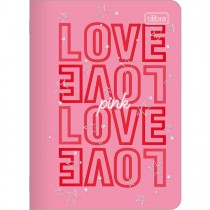 Imagem - Caderneta Grampeada Love Pink 32 Folhas (Pacote com 5 unidades) - Sortido
