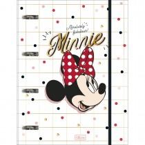 Imagem - Caderno Argolado Cartonado com Elástico Minnie 80 Folhas