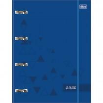 Imagem - Caderno Argolado Cartonado Universitário com Elástico Lunix Azul 80 Folhas
