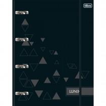 Imagem - Caderno Argolado Cartonado Universitário com Elástico Lunix Preto 80 Folhas