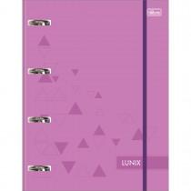 Imagem - Caderno Argolado Cartonado Universitário com Elástico Lunix Roxo 80 Folhas