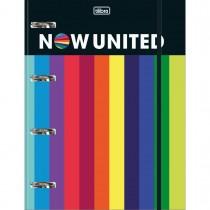 Imagem - Caderno Argolado Cartonado Universitário com Elástico Now United 80 Folhas
