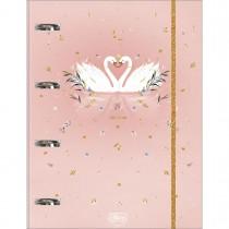 Imagem - Caderno Argolado Cartonado Universitário com Elástico Royal 80 Folhas