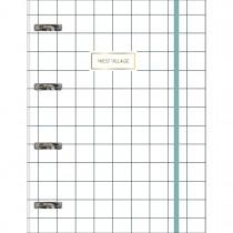 Imagem - Caderno Argolado Cartonado Universitário com Elástico West Village 80 Folhas