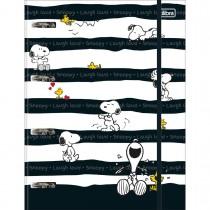 Imagem - Caderno Argolado Universitário Cartonado com Elástico Snoopy 80 Folhas