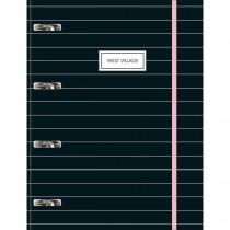 Imagem - Caderno Argolado Universitário Cartonado com Elástico West Village 80 Folhas