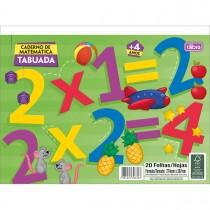 Imagem - Caderno Atividades de Matemática Tabuada Académie 20 Folhas