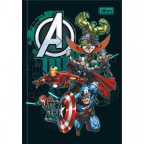Imagem - Caderno Brochura Capa Dura 1/4 Avengers 80 Folhas - Vários Heróis Fundo Preto - Sortido