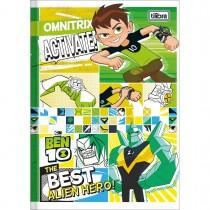 Imagem - Caderno Brochura Capa Dura 1/4 Ben 10 96 Folhas - Sortido (Pacote com 5 unidades)