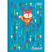 Imagem - Caderno Brochura Capa Dura 1/4 Bichinhos 96 Folhas - Sortido (Pacote com 10 unidades)