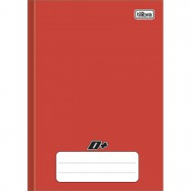 Caderno Brochura Capa Dura 1/4 D+ Vermelho 48 Folhas