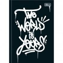 Imagem - Caderno Brochura Capa Dura 1/4 Graffiti 80 Folhas - Sortido (Pacote com 5 unidades)